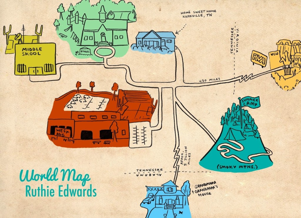 50 Dumb Things Comic Map - Ruthie Edwards