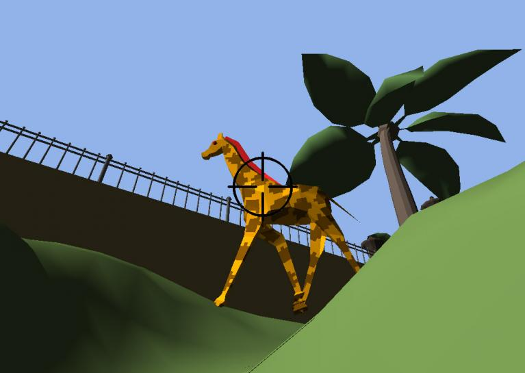 Giraffe in Menagerie - Global Game Jam 2014