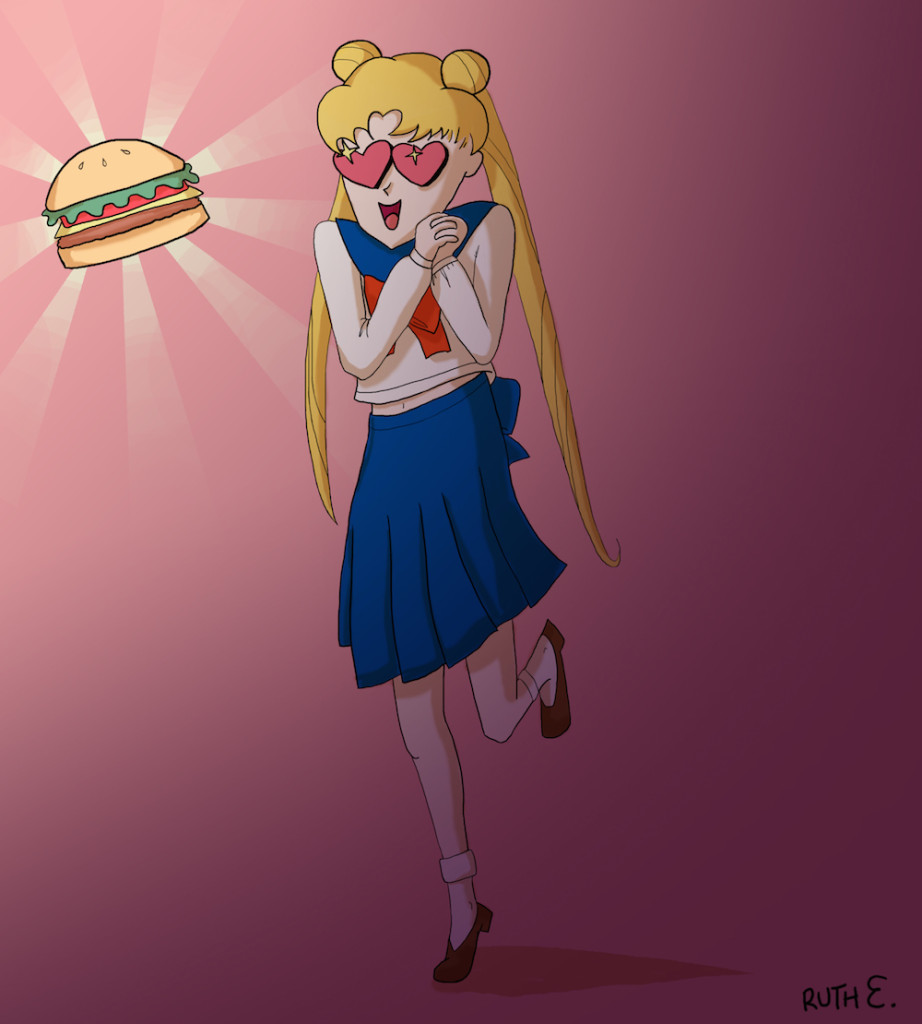 Sailor Moon Hamburger by Ruthie Edwards