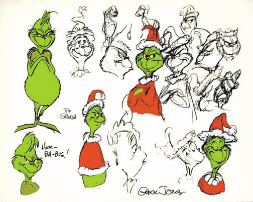Chuck Jones Grinch Sketches