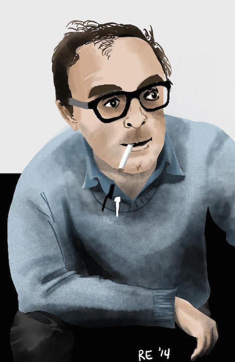 Jean-Luc Godard Digital Portrait by Ruthie Edwards