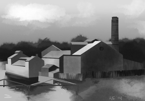 Tredegar Iron Works Digital Painting by Ruthie Edwards