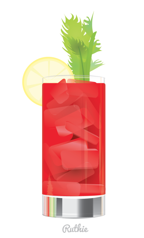 Vector Bloody Mary copyright Ruthie Edwards