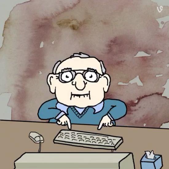 Karl Uses a Computer (Vine)