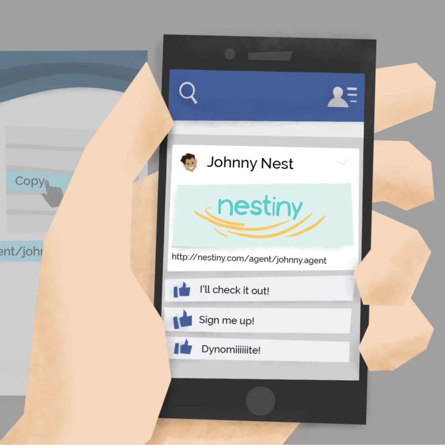 Nestiny for Agents (storyboard, graphics, animation)