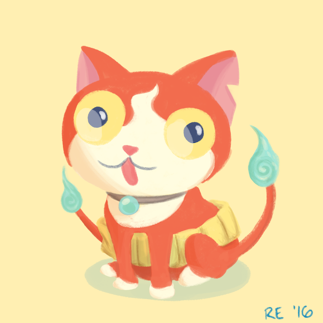 Jibanyan Illustration by Ruthie Edwards