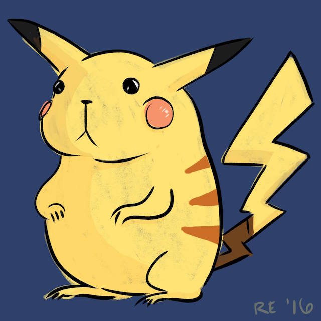 Fat Pikachu Illustration Ruthie Edwards